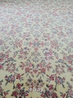AUTHENTIC AMERICAN KARASTAN 100% WOOL IVORY RUG 10 x14 PATTERN 788 HAND WASHED