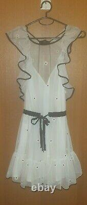 Alice McCall'Fresh As A Daisy' Dress In White Floral Pattern Mini Dress Size 6
