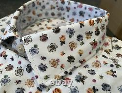 BNWT Paul Smith White Floral Pattern Stunning Soho Fit Shirt Size 15 RRP £155