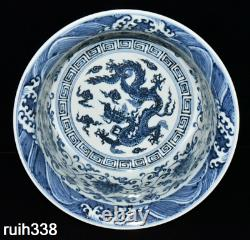 Chinese Ming Dynasty Blue and white Entwined branch Floral pattern Hand basin
