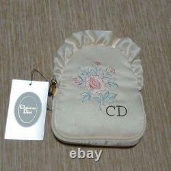 Christian Christian Dior makeup pouch floral pattern white