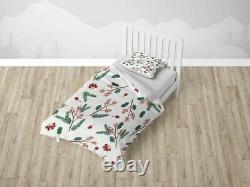 Christmas Flower Leaf Floral Patterns Duvet Cover Sets Zipper And Pillow Cover
