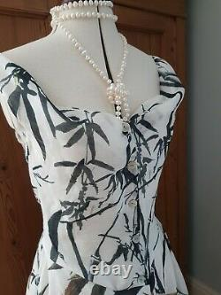 Corset look silk dress uk 12 made to Vivienne westwood pattern Couturier UK. New