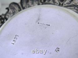 Elaborate Sterling WHITING Bowl / Dish ornate floral leaf scroll & shell pattern