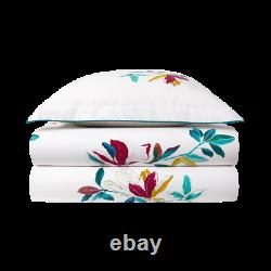 Fougue From Yves Delorme, France- Organic Cotton Flat Sheet In Floral Pattern