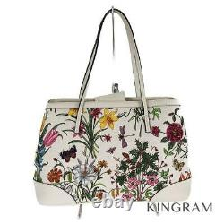 GUCCI Flora floral pattern flower 358470 white Women's Tote Bag from Japan