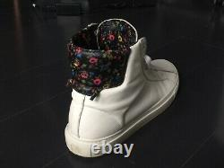 Givenchy Urban Knot High Top Floral Pattern White Leather Sneakers Size 9/42