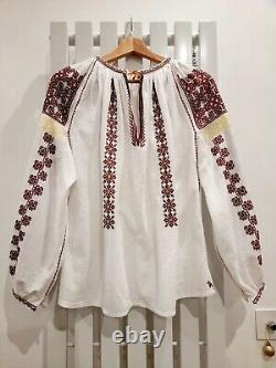 Hand made Traditional Romanian Blouse Ie Unique Design Multiple Patterns