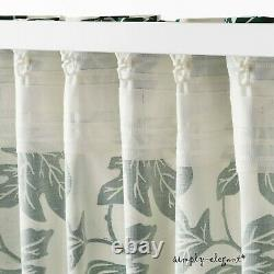 IKEA ALPKLÖVER Green White Floral Pattern 57x98 Pair of Curtains Window Panels