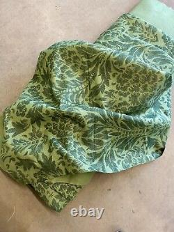 LAURA ASHLEY Upholstery Fabric Vintage GREEN PATTERN Linen Blend 22m By 1.35m