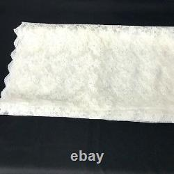 Lace Material White Floral Pattern 23 x 6 Yards Lot of 2 Vintage Antique