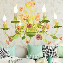 Luxury 6 Arms/Lights High Quality Metal Floral Chandelier+Light Bulbs included