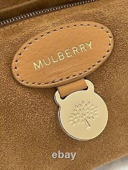 Mulberry Cecily Flower Lock Bag in Biscuit Brown Glossy Goat (Regular Size)