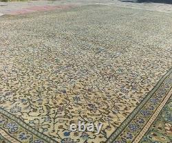 Muted Colors Ca1930-1939s Antique 7x10ft Wool Pile Floral Patterned Hereke Rug