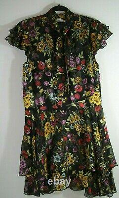 NEW Alice + Olivia Western Floral Patterned Mini Dress Size 8 #D2669