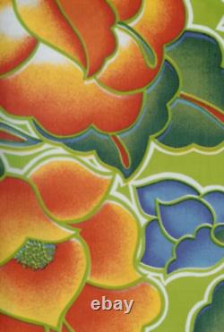 Oilcloth Fabric Exotic Tehuana Green Pattern Sold in Yard or Bolt