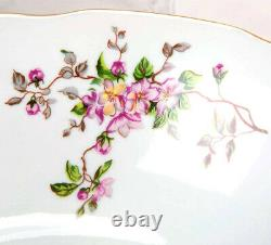 Porcelain Dinner Set with Floral Pattern. 6 Persons, 29 pcs, by Dulevo, Russia