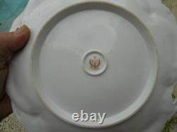 RS Prussia Floral Rose Pattern Plate Red Mark Mint Condition! Nice feel