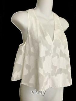 Rag And Bone Shorts And Sleeveless Sheer Top White Cotton Floral Pattern Size Xs