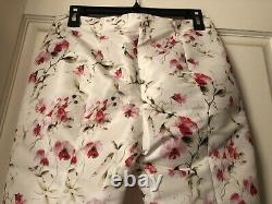 Red valentino pink floral pattern Cream Ivory long pant size US 2(IT40)