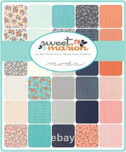 SWEET MARION Boxed Quilt Kit Pattern & Fabric by Moda finishes at 68 x 89