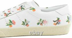 Saint Laurent Women's sneakers in white leather floral pattern Size US 10 -EU 40