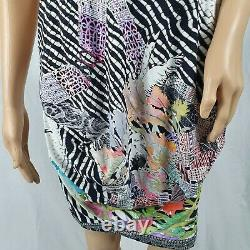 Save The Queen Dress Black White Multi Floral Patterned Size Small 8