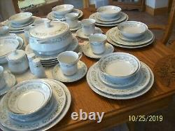 Sterling China Florentine Pattern 114 Pieces Porcelain Yellow & White Floral
