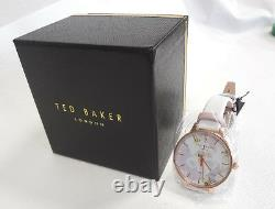 TED BAKER LONDON Women's Watch Floral Pattern Leather Band TE50377002 New