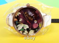 TED BAKER LONDON Women's Watch Floral Pattern Leather Band TE50377004 New