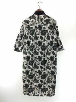 Tricot COMME des GARCONS Auth Flower pattern Shirt Dress White M Used from Japan