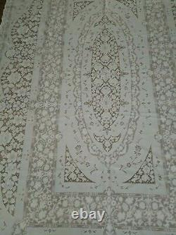 Vintage Quaker Lace Tablecloth 6280 White House Pattern 72X109 Beautiful Ivory