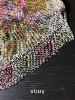 Whiting & Davis Baby Mesh Purse Floral Pattern / LE