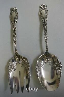 Frank M Whiting Sterling Silver Salad Serving Set In Josephine Pattern 178.8 G