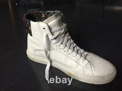 Givenchy Urban Knot High Top Floral Pattern White Leather Sneakers Taille 9/42