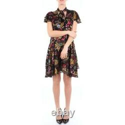 New Alice + Olivia Western Floral Patterned Mini Dress Taille 8 #d2669